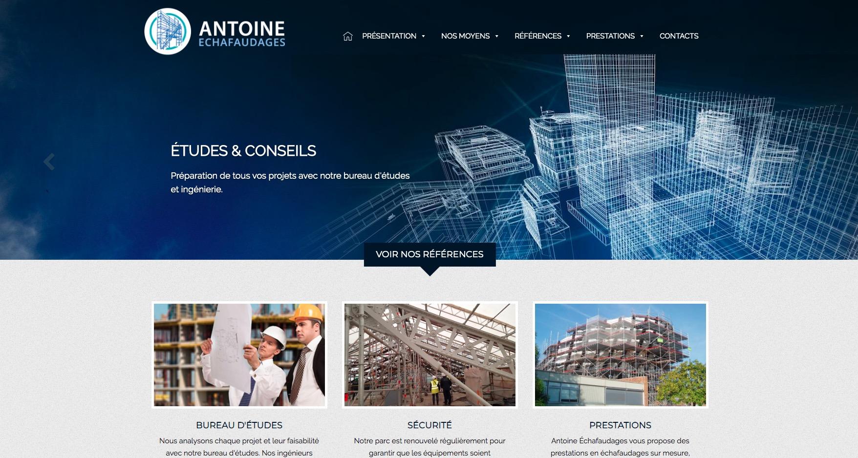 Création site BTP