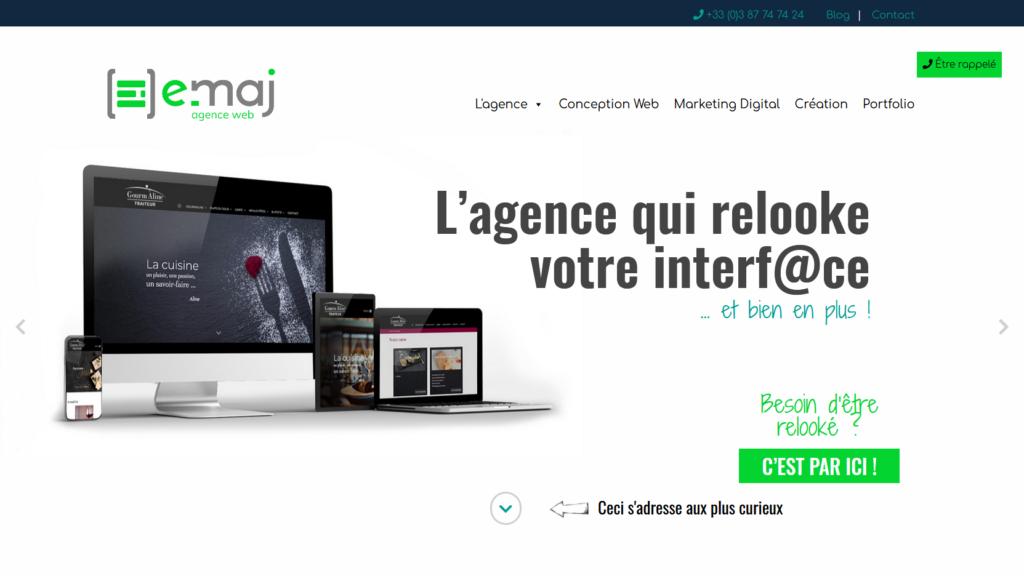 exemple de design épuré de site internet