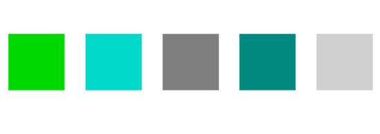 La palette de couleurs web de notre agence