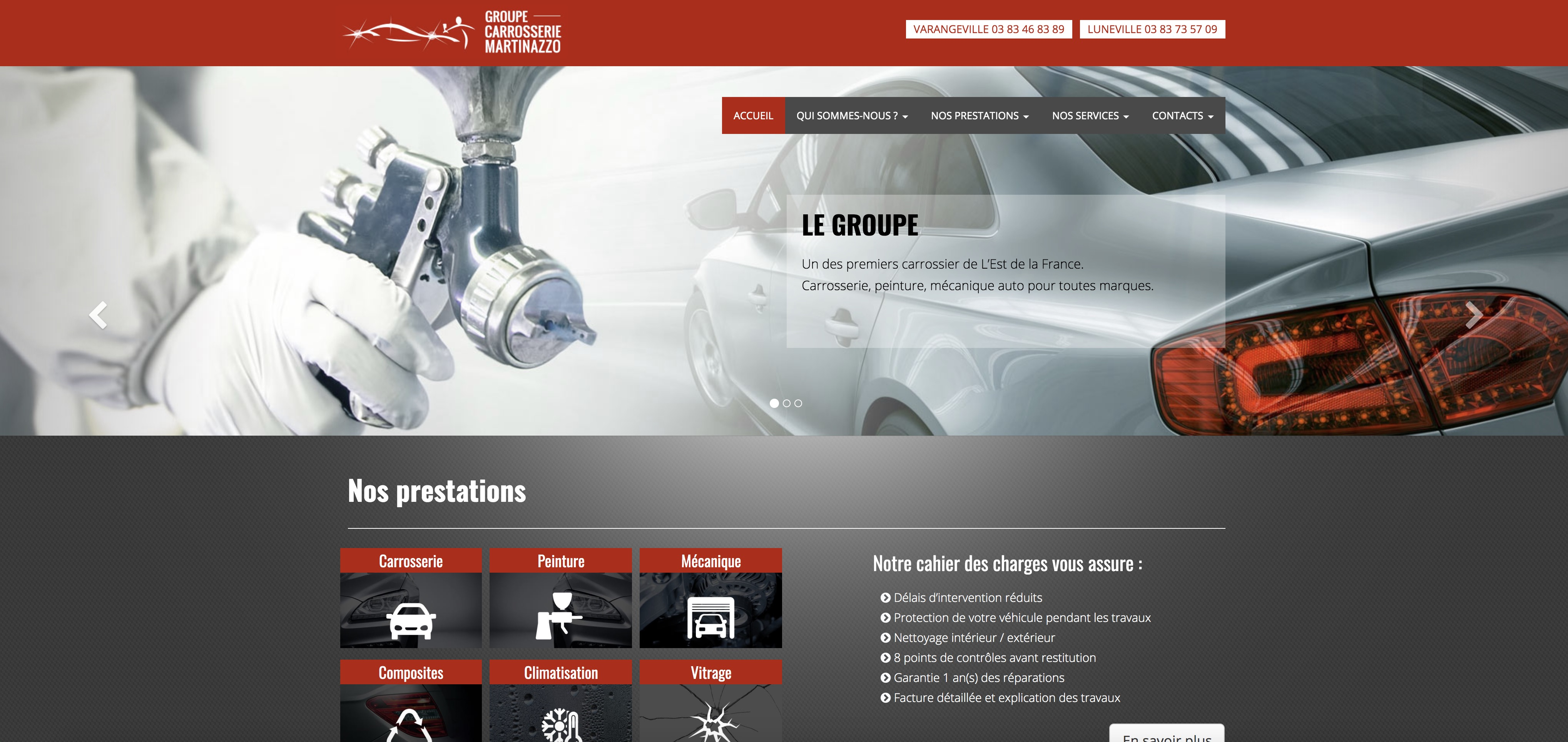 Refonte site web carrosserie