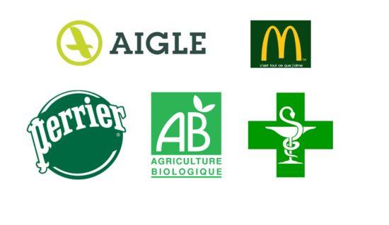 En marketing, le vert est associé à la nature, l'environnement, la santé, le peps