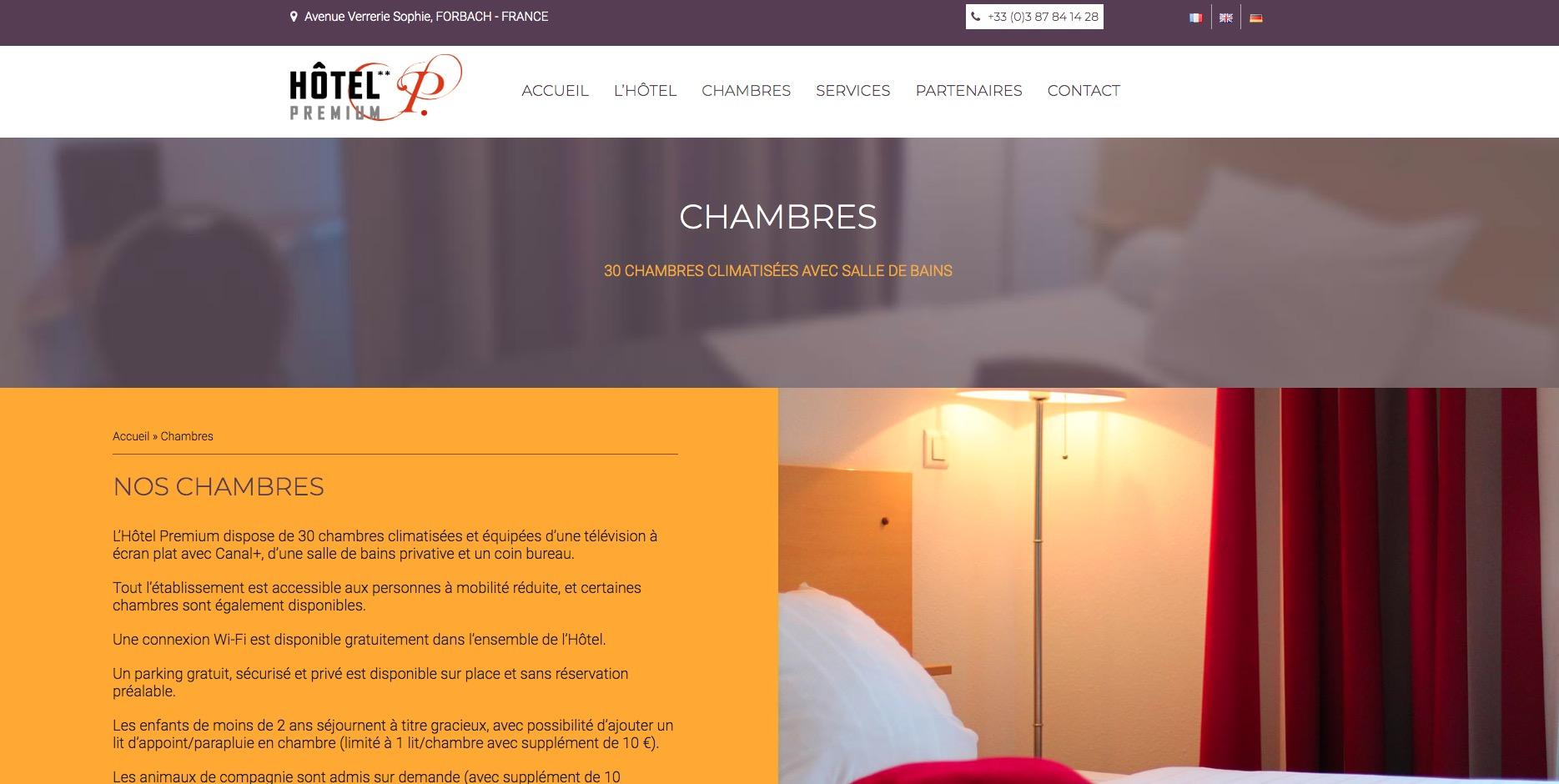 Refonte site web hôtel