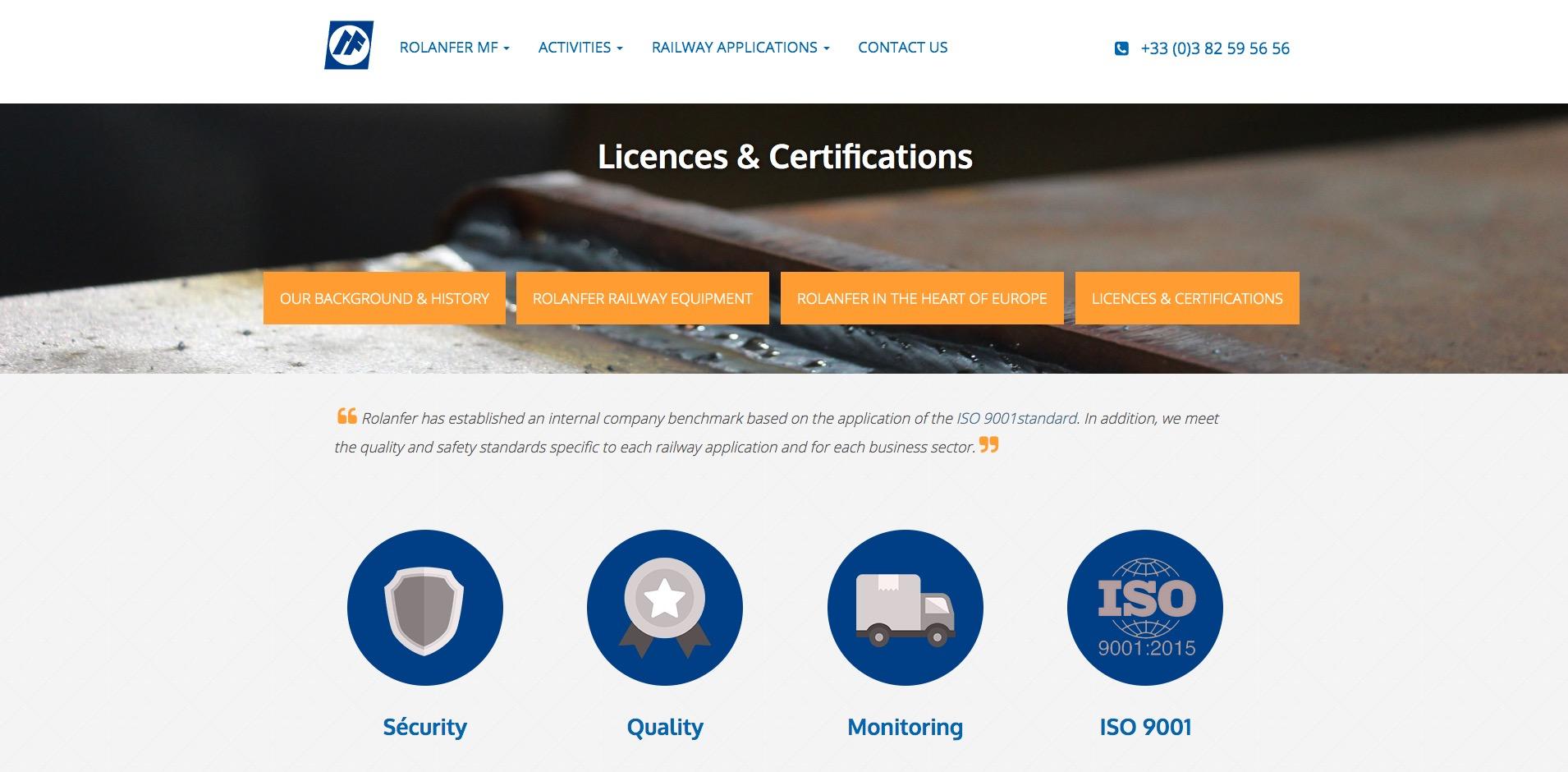 Création site web industrie