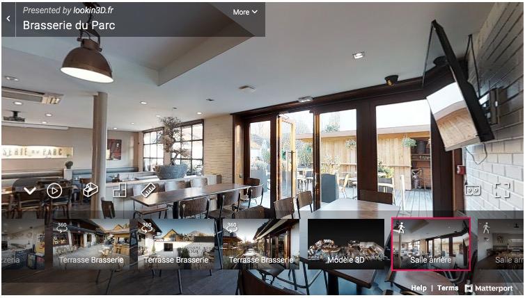L'outil Lookin 3D permet de réaliser des visites virtuelles de restaurants